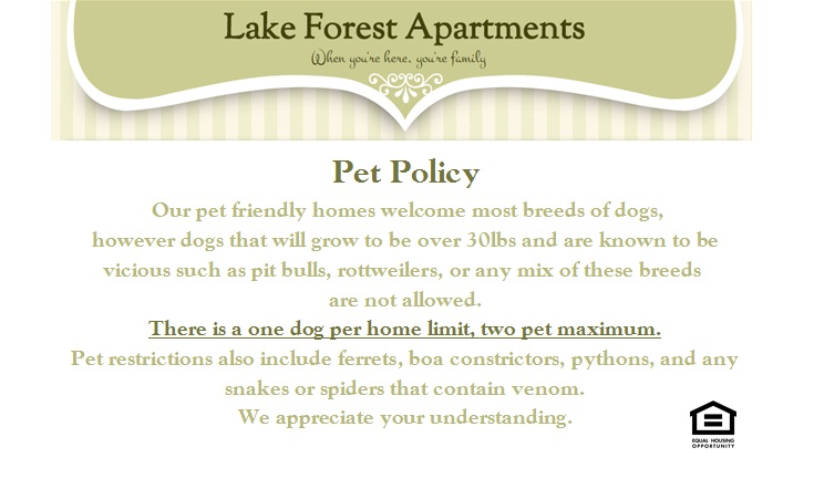 Lake Forest Apartments 1 Amp 2 Bedroom Homes