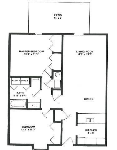 New England Floorplan Lake Forest Apartments