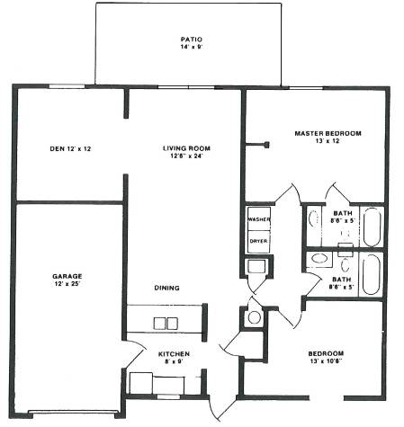 Villager 2 Floorplan Lake Forest Apartments